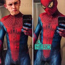Free Shipping 3D Printed Amazing Spider-Man Cosplay Costume New Style Spiderman Superhero Zentai Halloween Costume Bodysuit
