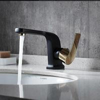 High Quality Basin Faucet Brass Unique Design Bathroom Faucet Luxury Single Lever Black And White Sink