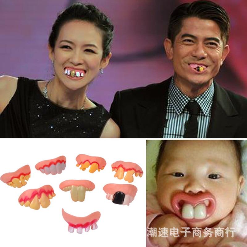 Practical Jokes Interesting Prank Horror Fun Shocker Novelty Gadgets Funny Denture Teeth Halloween Decoration Props Toys AJ563