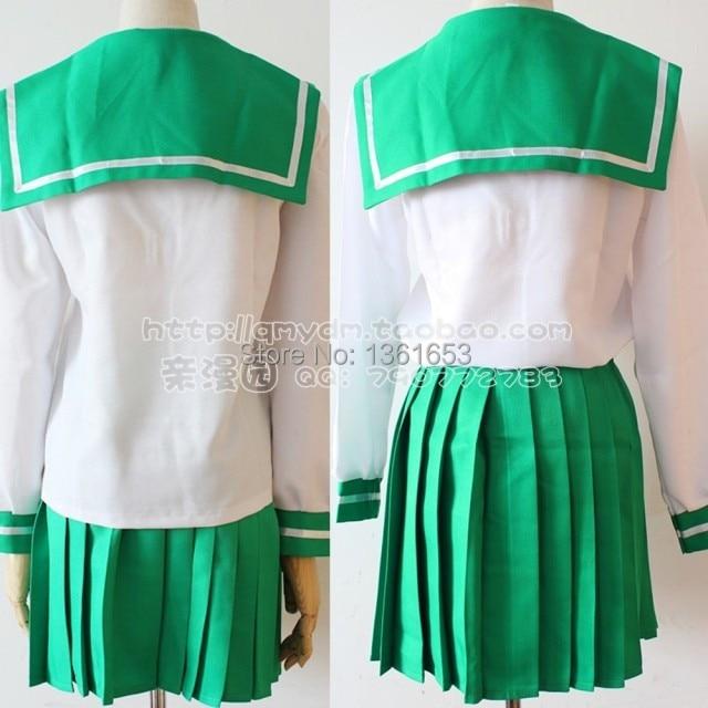Anime Inuyasha Cosplay Higurashi Kagome Cosplay Costume Sailor Suit - Կարնավալային հագուստները - Լուսանկար 2