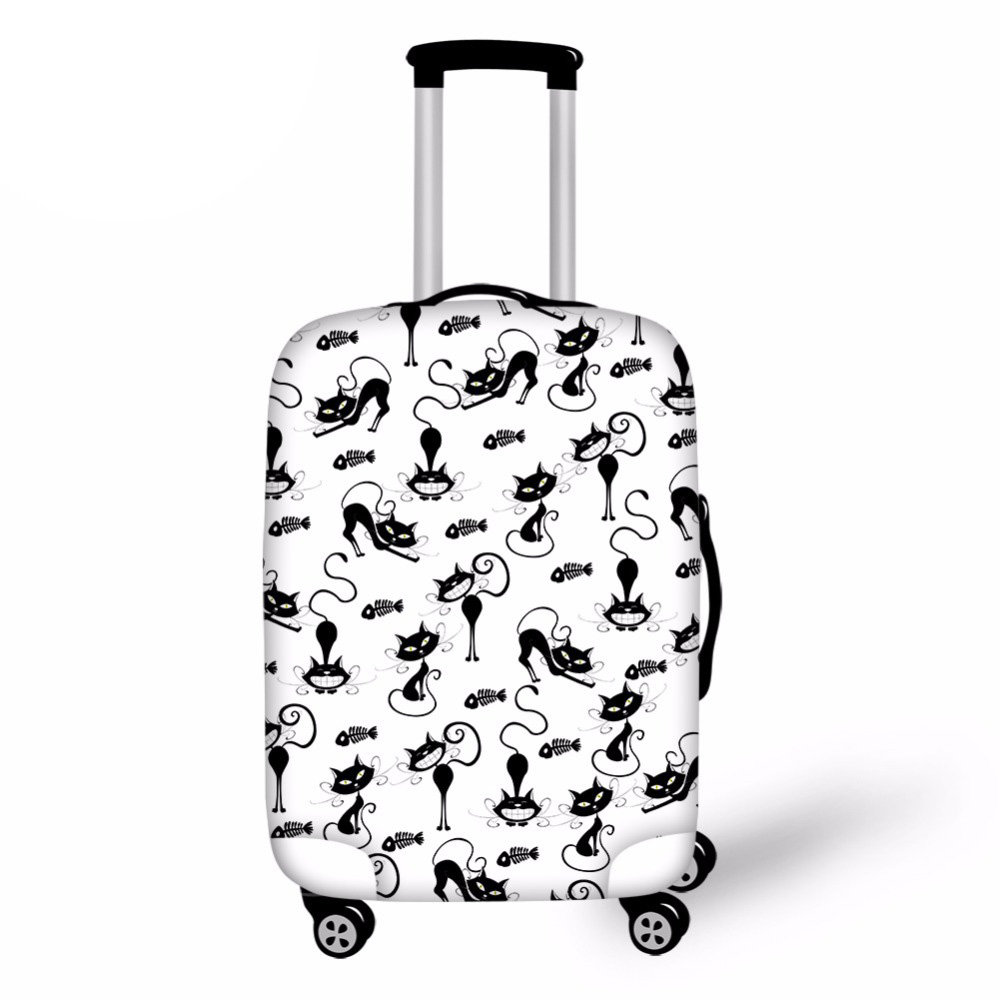 Customized Image Lovely Cat Thick Elastic Luggage Protective Cover Zipper Suit 30 inches Trunk Case Travel Suitcase Covers Bags