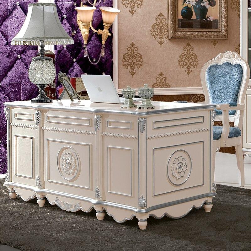 61long salon furniture european deisgn home office desk for bookroom by air shipping