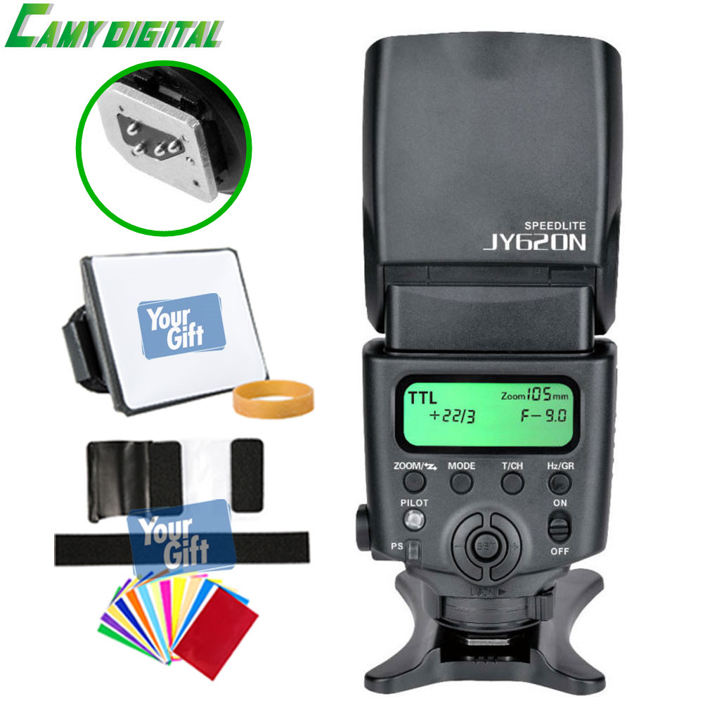 цена на Viltrox high-quality JY-620N GN40 Speedlite TTL Camera flash with LCD Screen For Nikon D810 D800 D700 D90/D5000/D5100/D5200,etc