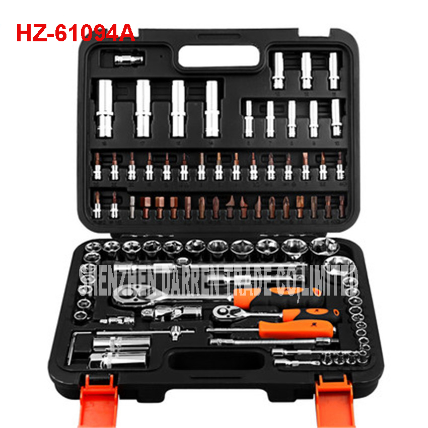 HZ-61094A auto repair tools ratchet wrench spanner set hand tools combination of tools Automobile socket wrench set chrome vanadium steel tip of the tail tip wrench ratchet wrench 22 24 fast ratchet spanner tools