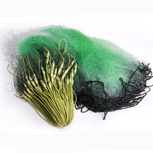 depth 1.5m leht 20m-40m monofilament nylon Fishing net sticky 3 layer sink rope sinker green hanging fish network