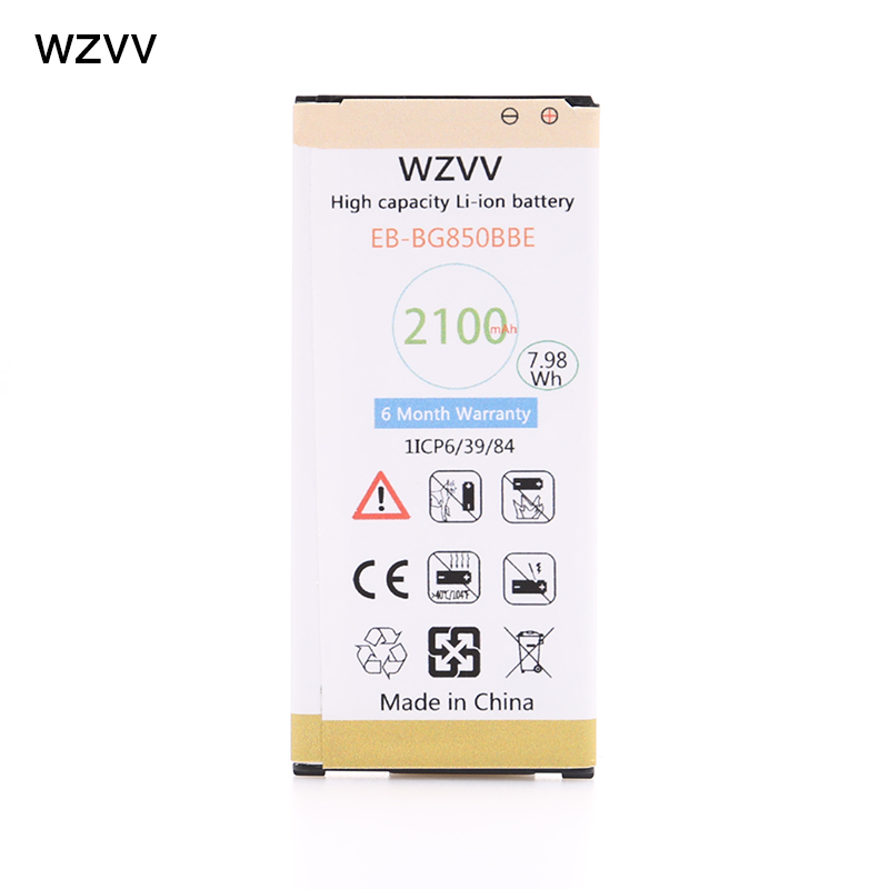 wzvv Original 2100mAh With NFC Replacement Battery EB-BG850BBE for GALAXY Alpha SM-G850F G850M G850T G850Y