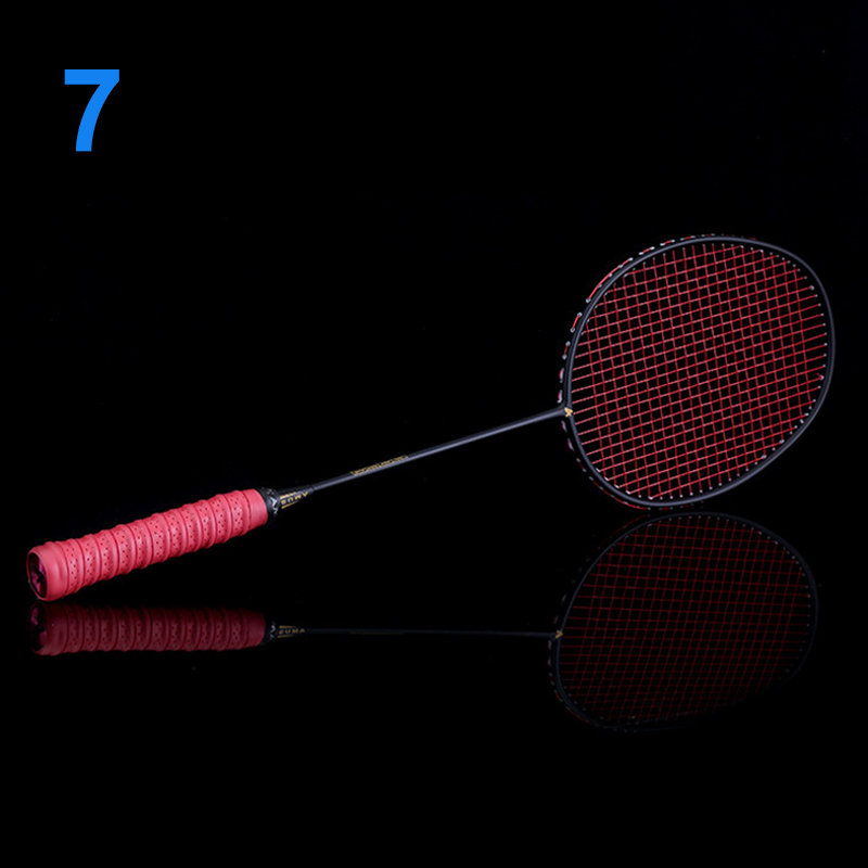 New Ultralight 6U Badminton Racket Professional Carbon Portable Free Grips Sports LMH66