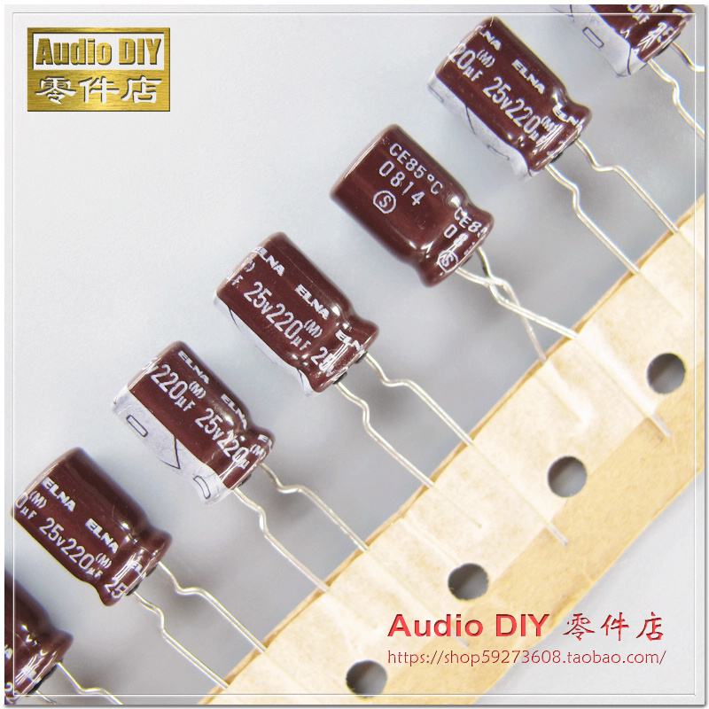 2018 Hot Sale 30pcs/50pcs ELNA Brown Leather White RA2 Series 220uF/25V Audio Electrolytic Capacitors Free Shipping