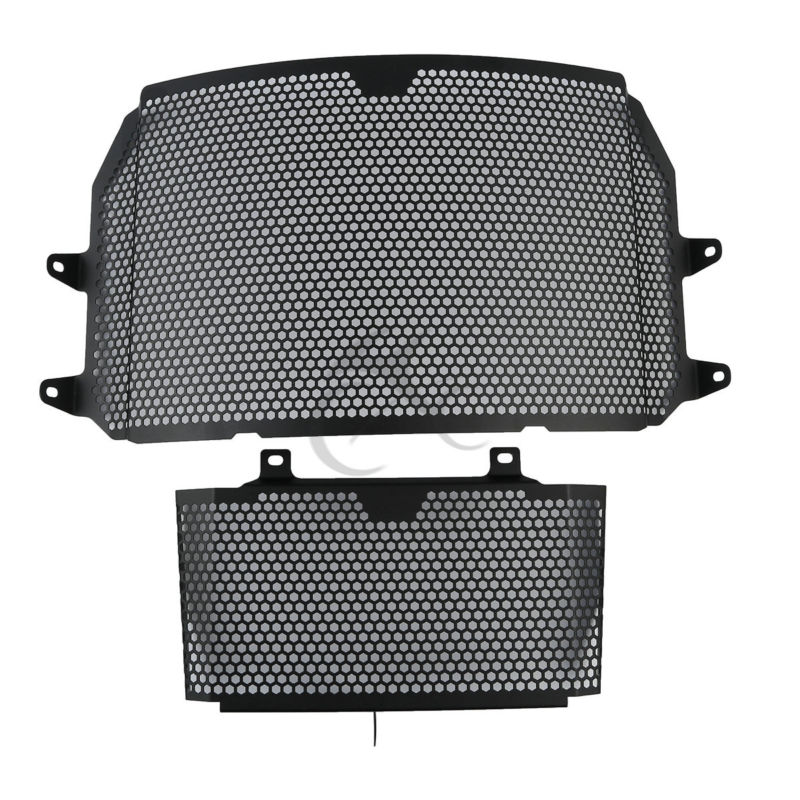Radiator Grill Guard Protector Oil Cooler Cover Black For Yamaha 2016-2017 MT-10 waase arashi radiator grill oil cooler grille guard protector protective cover for bmw s1000rr s1000xr s1000r hp4