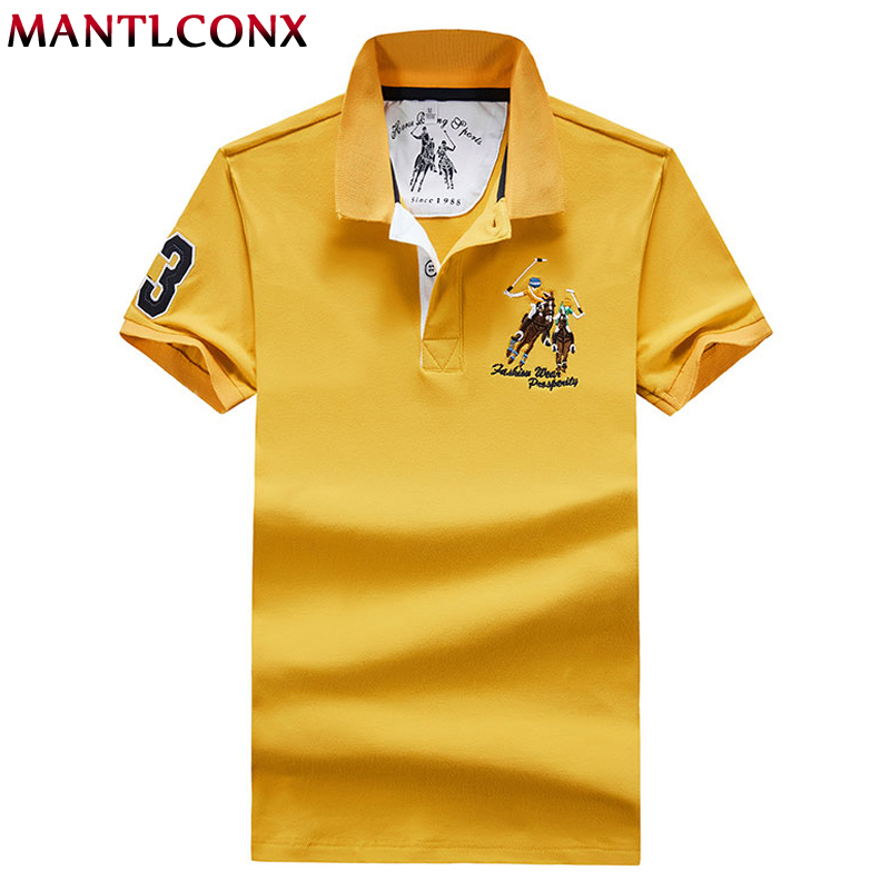 MANTLCONX 2019 Summer Men   Polo   Shirt Camisa   Polo   Embroidery   Polo   Shirt Men Short Sleeve Solid Cotton   Polos   Male Plus Size M-4XL