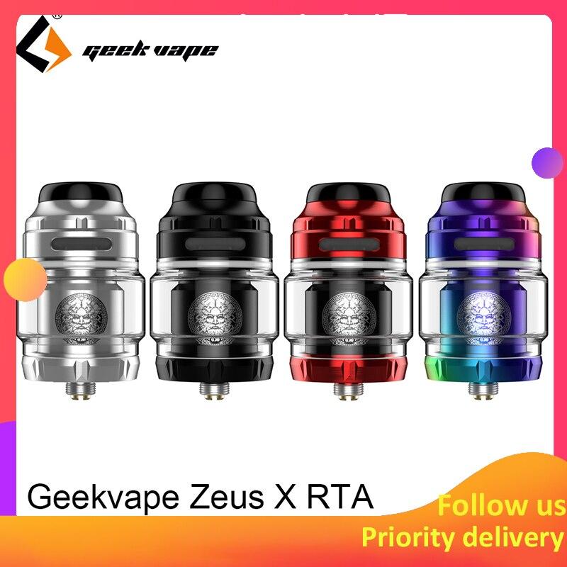Geekvape Zeus X RTA 4,5 ml tank kapazität mit 810 Delrin tropf spitze Elektronische zigarette zerstäuber upgrade zeus dual/ AMMIT MTL