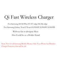 Qi Schnelle Drahtlose Ladegerät Für Samsung S8 S8 Plus S7 S6 kante Anmerkung 5 Handy-ladegeräte Schnelle Intelligente Ladestation Halter Pad