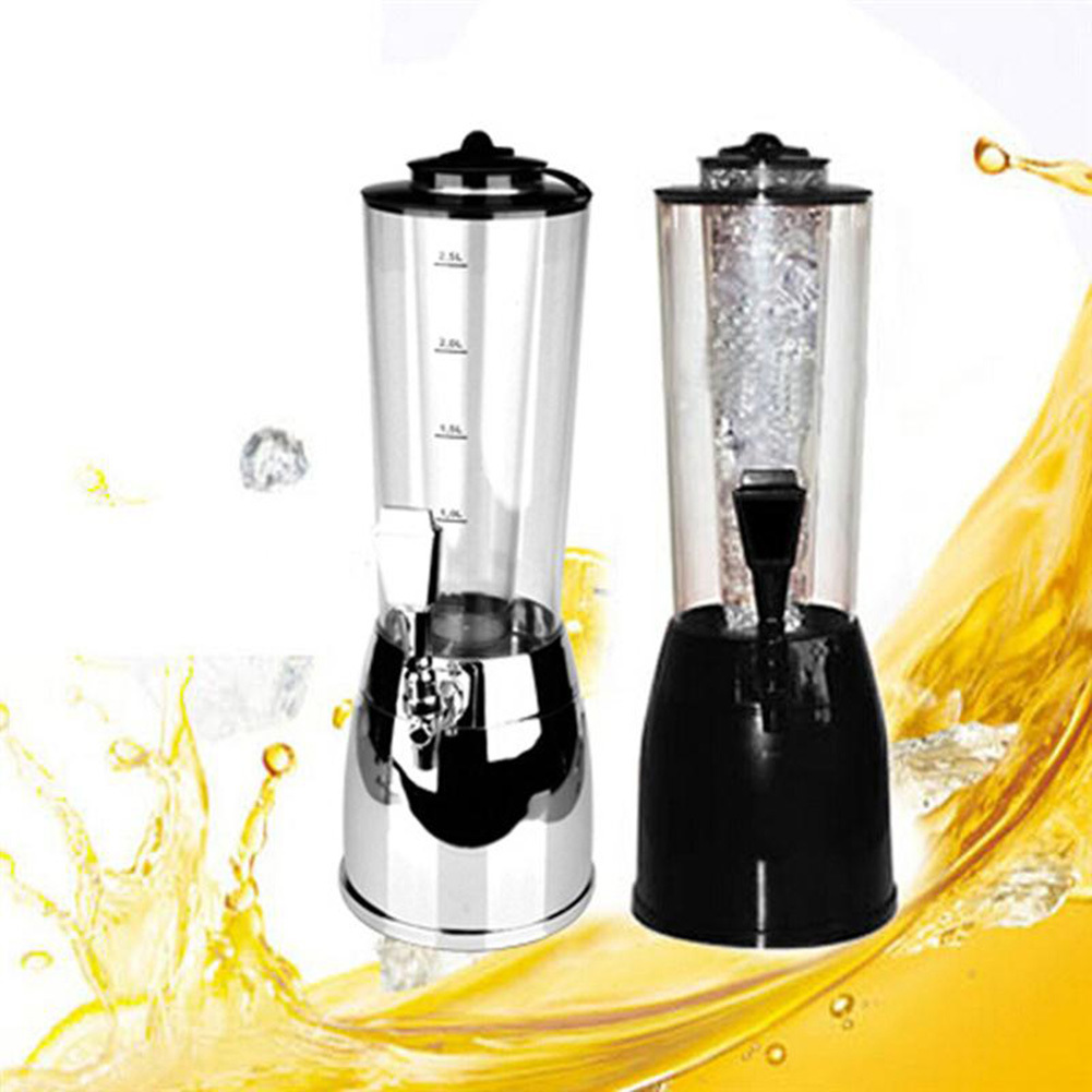 2.5L Beer Dispenser Wine Pourer with Icicle Ice Core Beer Dispenser Beverage Machine Ice Tube for Wine Alcohol Juice Soft Drink-in Ice Buckets & Tongs from Home & Garden    1