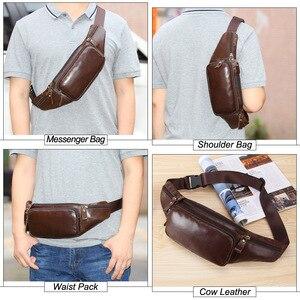 Image 5 - MISFITS skórzana torba na biodro mężczyźni podróż saszetka biodrowa torba biodrowa z paskiem torba saszetka na telefon dorywczo torba na klatkę piersiową mężczyzna piterek