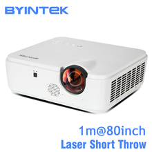 BYINTEK LP300ST Short Throw Focus Laser DLP Video Full HD 1080P Projector for Rear Holographic Home Education Office Business