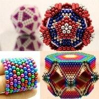 2019 216 шт Магнитный куб головоломка Боллинг с металлической коробкой мозговой подарок для игры для детей головоломка магический куб блоки 5 м...