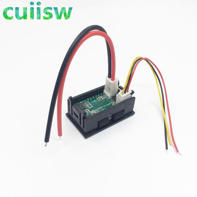 Купить с кэшбэком DC 0-100V 10A Voltmeter Ammeter Red+ Blue LED Amp Dual Digital Volt Meter Gauge LED display Meter Amperemeter Voltage Indicator