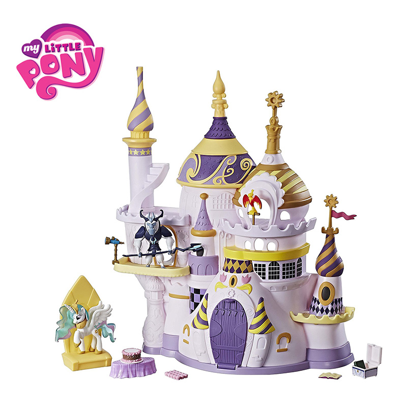 Hasbro Mon Petit Poney Castillo Canterlot Château Maison Amitié est Magique Princesse Celestia Bébé Modèle Poupées Jouets Pour Enfants