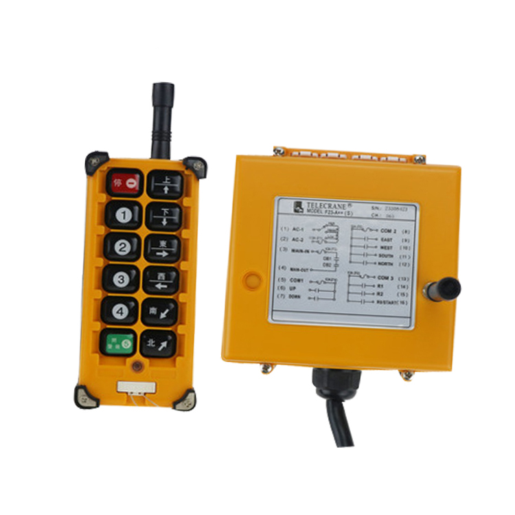 F23-A++(S)(include 1 transmitter and 1 receiver)4 Channels1 Speed Hoist Industrial Wireless Remote Control Uting remote nice uting ce fcc industrial wireless radio double speed f21 4d remote control 1 transmitter 1 receiver for crane