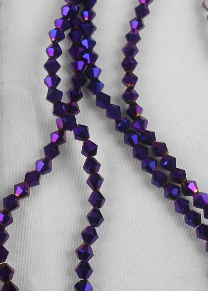 Sale New Purple 100pcs 4mm Bicone Austria Crystal Beads Charm Glass Beads Loose Spacer