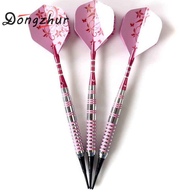 3 PCS/Set Pink Flower 17 Grams Soft Tip Professional Darts Iron Darts Darts SET Safety Indoor Sport Game Best Gift Leather Bag
