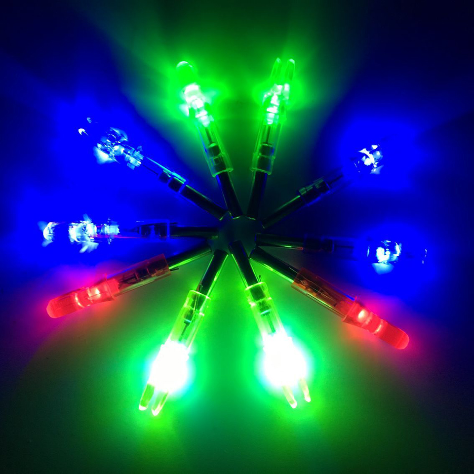 6pcs Lighted Nock Compound Bow Led Lighted Arrow Nock  For Hunting Shooting Archery