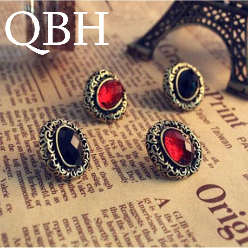 EK241 New Fashion Vintage Antique Crystal Hollow Flower Stud Earrings For Women Jewelry Christmas Gifts brincos