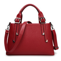 JOFEANAY Brand 2017 new portable shoulder Messenger bag fashion embossed handbag leather bag Ms. ba factory wholesale Discount