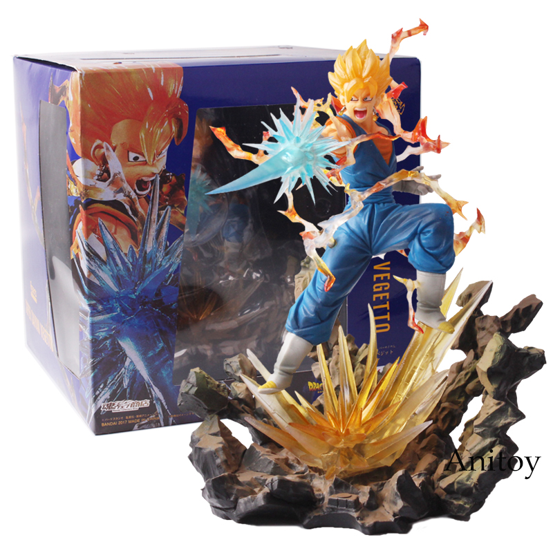 Anime Dragon Ball Z Figuats ZERO Super Saiyan Vegetto PVC Action Figure Collectible Model Toy 20cm Vegetto Figure dragon ball dxf the super warriors vol 3 super saiyan rose gokou black and vegetto pvc figure collectible model toys kt4201