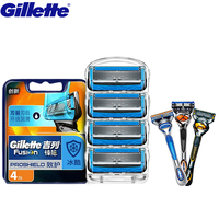 Gillette Fusion Proshield Razor Shaving Razor Blades Brands Shaver Blades Replacement Shaver Head Cooling Beard Shaving Razors