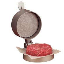 Freies Verschiffen druckguss aluminium non-stick Einzigen Hamburger Presse-Single Hamburger Presse Nonstick Perfekte Patties Dick (00278)