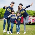 BATMAN Sweatshirt Family Clothing Clothes for Mother and Daughter Father Son Family Set Matching Clothes Beige/Navy PRO13