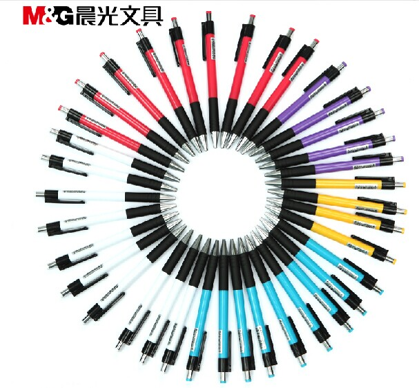 M&G ABP88402 40pcs/lot premium 0.7mm eco-friendly ballpoint pen excellent writing easily grip high quality stationery