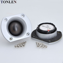 цена на 2pcs 15W Dome Silk Film Tweeter Speaker Units 6ohm Silver Panel Tweeter Car Modified Home Audio Tweeter HIFI Treble Loudspeaker