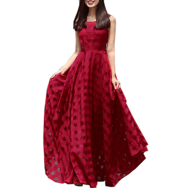 bcd64899b5 European Fashion Ruway Dresses 2018 Women High Quality Blue Red White Black  Summer Dress Long Maxi Dress Beach Vestidos Mujer