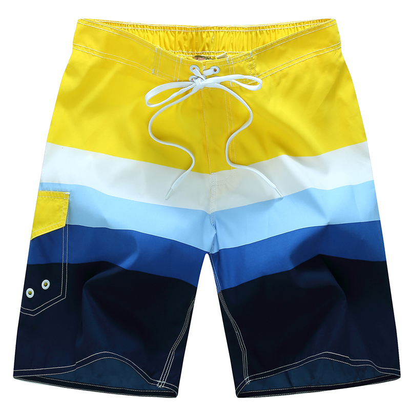 2018 Men's Swim Trunks New Summer Quick Dry Beach Surfing   Board     Shorts   Bathing   Short   Elasticized Waistband With Drawstring