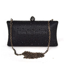 Clutches Women Evening Clutch Fashion Bridesmaid Designer Crystal Party Bag Wedding Purse Crossbody black Handbag Chain T03