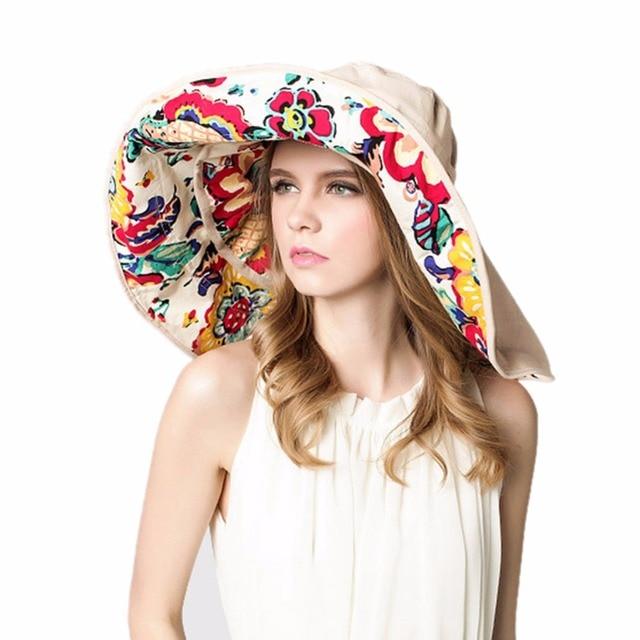 3e011465d9c5c Fashion Bohemian Style High Quality Cloth Summer Hat For Women Large Visors  Sun Hat Beach Hat