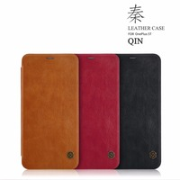 Nillkin Vintage Flip PU Leather Cover Case Wallet Case One Plus 5t A5010 Phone Case Card