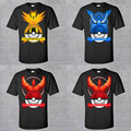Pokemon Go Men T shirt Team Valor Mystic Instinct Men Short Sleeve O-neck T shirts 2016 New Fashion Men Short Sleeve T shirts