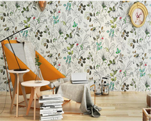 beibehang Pure paper wallpaper fresh garden flowers modern bedroom bedside living room TV backdrop Korean wallpaper papier peint beibehang pure non woven wallpaper fresh korean style small floral wall paper bedroom living room children s room papier peint