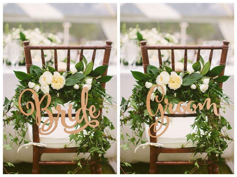 Жених и невеста стул знаки, свадьба Рустик деревянный стул, деревянные знаки, реквизит для фотосессии, Свадебные украшения, 2 шт./лот