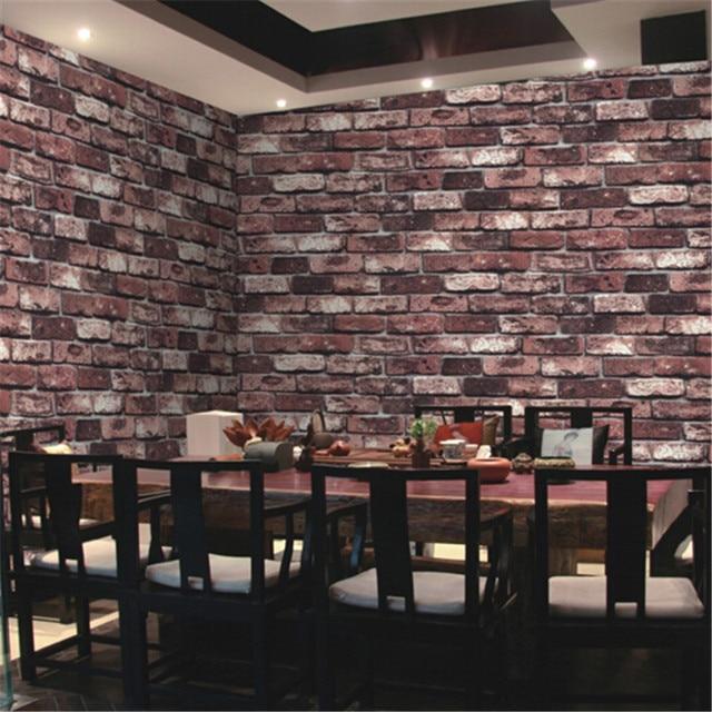 Online Shop beibehang Natural stone design brick wall wallpaper ...