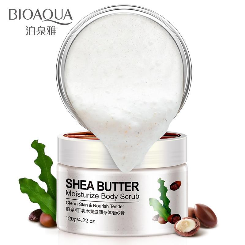 Shea Butter Cucumber Almond Body Scrub Exfoliating Gel Whitening Body Scrub Cream Dead Skin Remover Scrub Body Care 120g