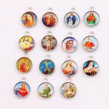 300 шт медали из цинкового сплава для католической церкви подвески