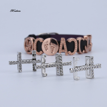 2016 New Gold Charm  For Women Crystal DIY Beads Bracelets & Bangles Jewelry Accessories new cross
