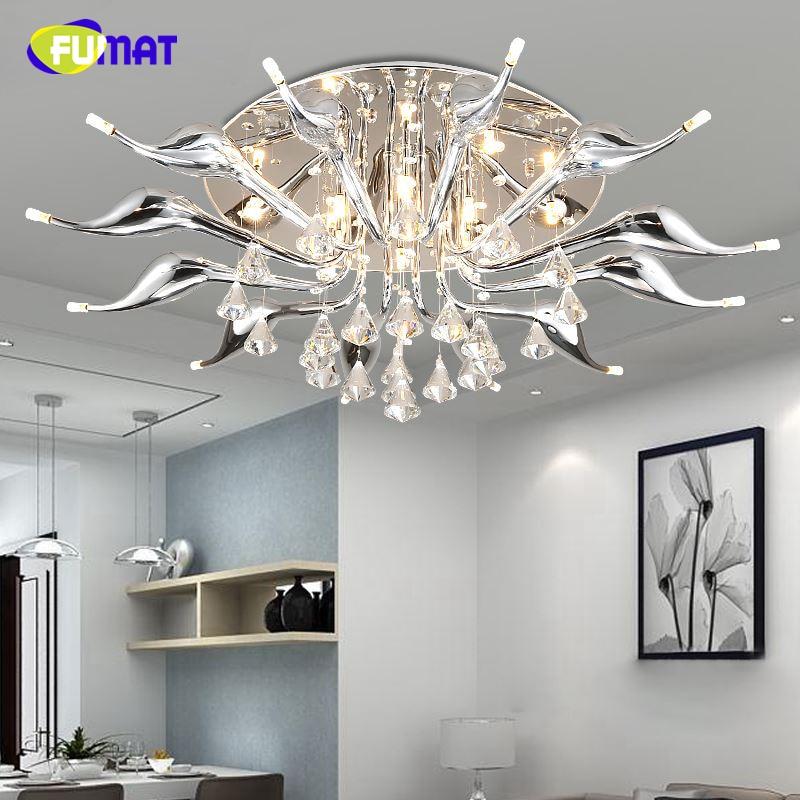 Fumat Led Ceiling Fans Crystal Light Dining Room Living: FUMAT Modern Ceiling Lamps Modern Creative K9 LED Swans