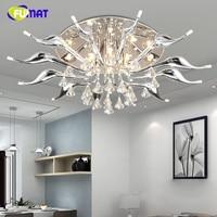 FUMAT Modern Ceiling Lamps Modern Creative K9 LED Swans Ceiling Lights Office Light Fixture Living Room Crystal Ceiling Lamp