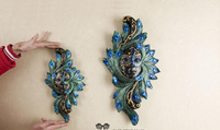 Southeast Asian Style Home Wall Hanging Beauty Fairy Peacock Mask Bar Coffee Shop Ornaments Resin Craft