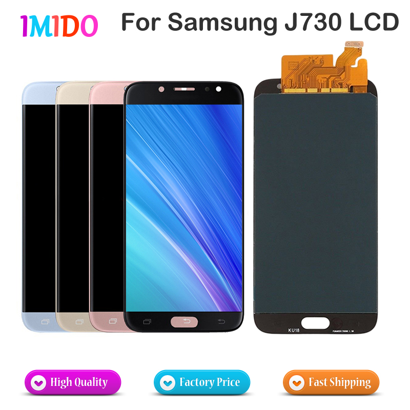 30Pcs Lot Brightness Adjustable LCD Digitizer For Samsung Galaxy J7 Pro 2017 LCD J730 J730F OEM